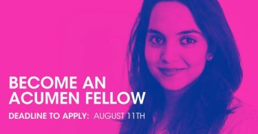 Acumen Fellows fund Program 2019