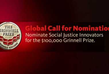 Application For Grinnell College Innovator for Social Justice Prize 2020 Is Currently On With $100,000 Prize