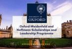 Weidenfeld-Hoffmann Scholarships and Leadership Program