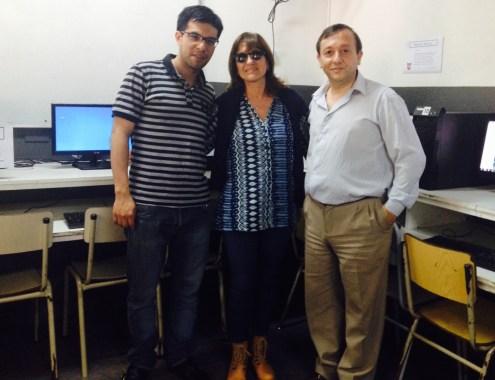 Prof. David Otrera, Lic. Cristina Rodrigues, Prof. Guillermo Varani