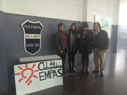 Prof. Irene Menendez, Lic. Cristina Rodrigues, Prof Iliana Lagos Biondi, Prof. Guillermo Varani