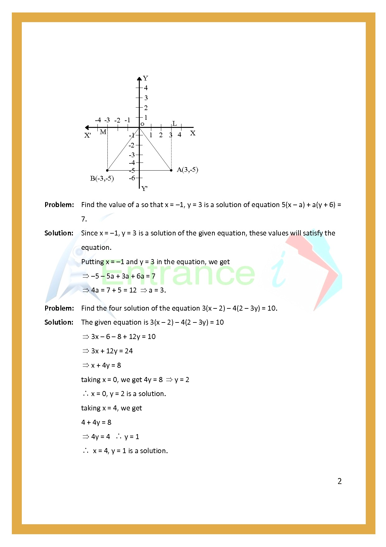 Worksheet For Class 7 Maths For Chapter 10 Linear Equation