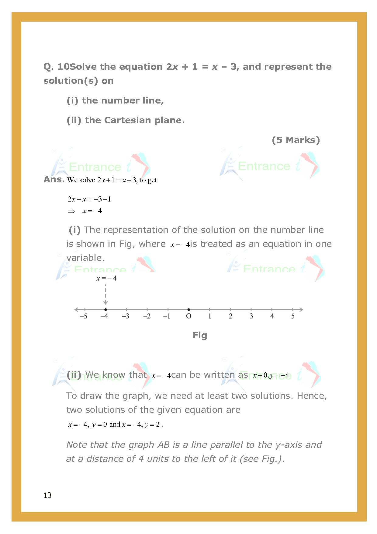 Cbse Important Questions For Class 9 Maths Chapter 4