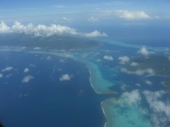 Vue aérienne de Bora Bora