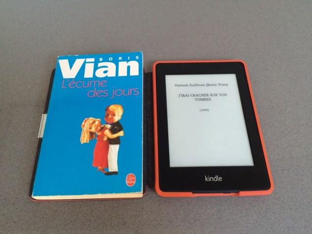 Kindle vs livre papier