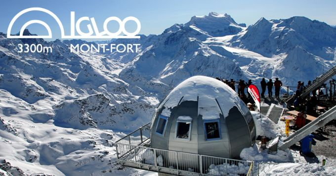La fondue la plus haute d'Europe : Igloo du Mont-Fort