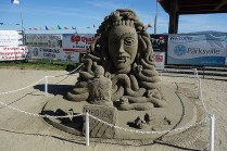 Parksville, sculpture de sable