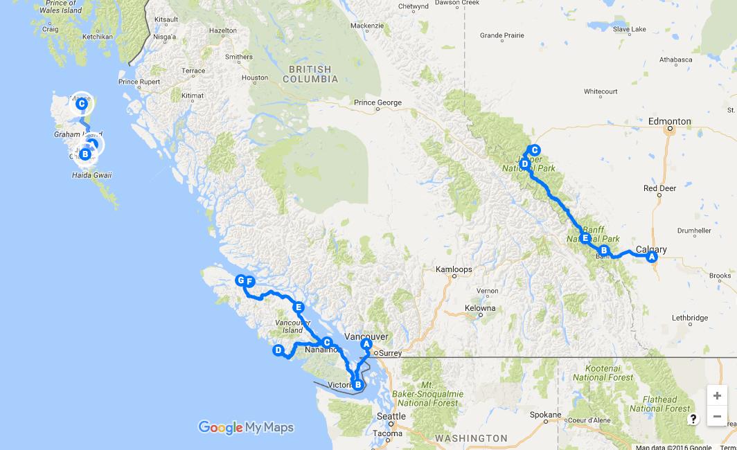 Les 12 incontournables de la Colombie-Britannique - Alberta