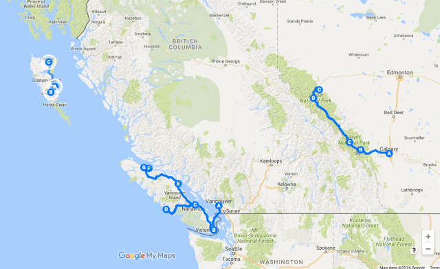 Canada Road Trip (British Columbia, Alberta)