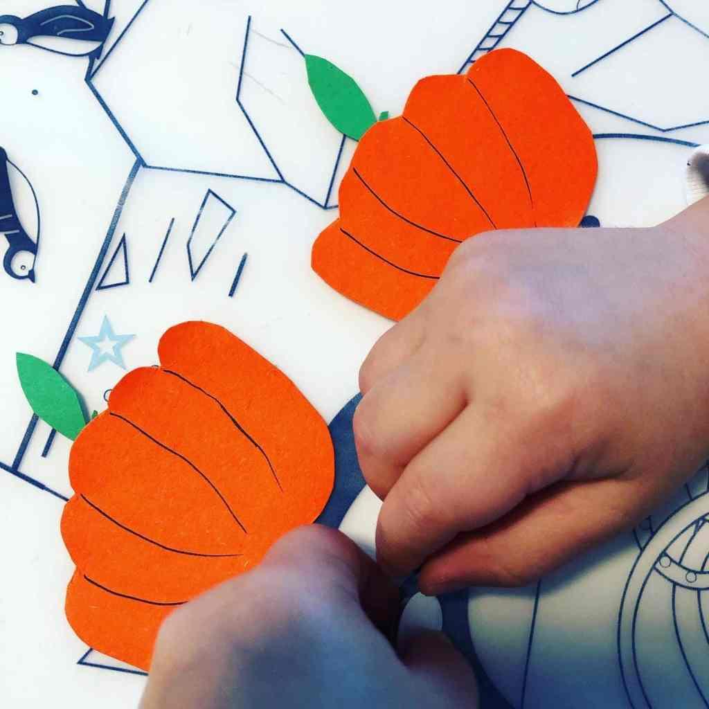 Citrouille dessinée avec les mains  Halloween