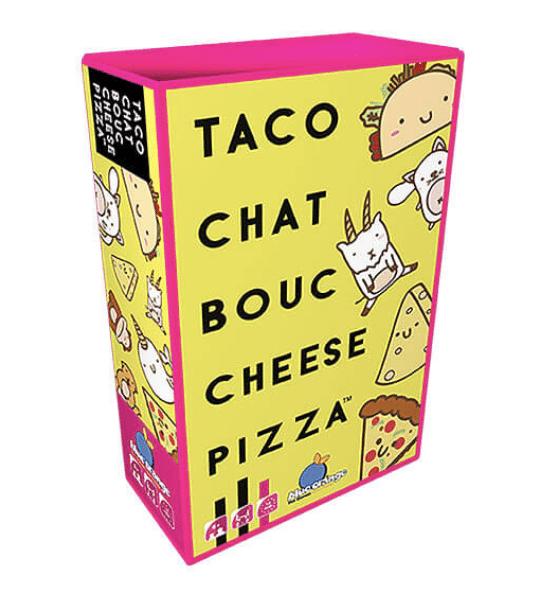 Jeu Taco chat bouc cheese pizza, blue orange