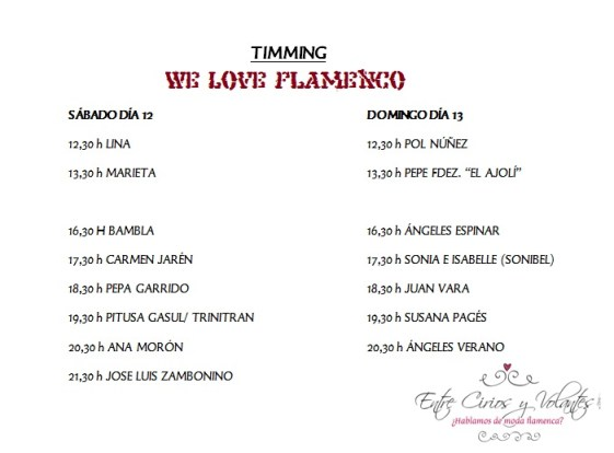 Timming We love Flamenco