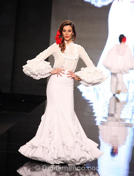 Vestido flamenca blanco