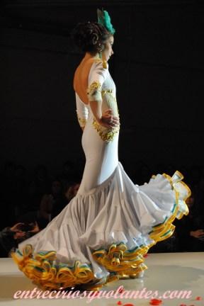 Traje de flamenca canastero de Mario Gallardo