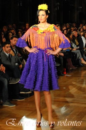 Traje de flamenca de Pol Nuñez We Love Flamenco 2014.