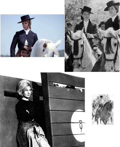 Duquesa de Alba a caballo