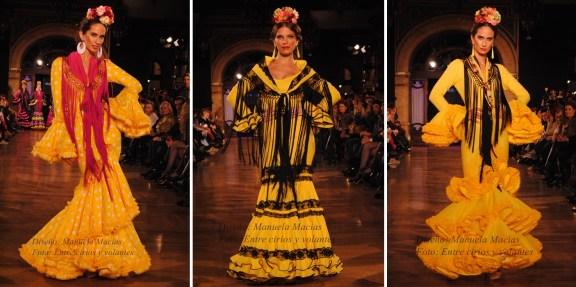 Manuela Macias trajes de flamenca amarillos we love flamenco 2015