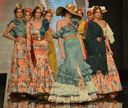 Maria de Gracia trajes de flamenca para el rocio 2015