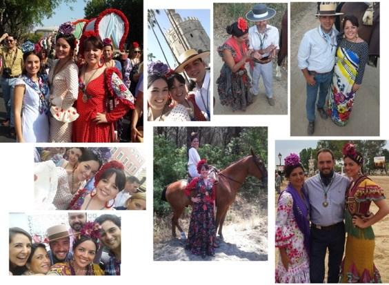 Rocio 2015 Entre cirios y volantes