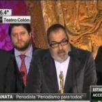 """El grupo de artistas de la militancia k aplaudidora indignada con la """"agresividad"""" de Lanata"""