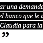 Diego lleva a juicio a Claudia con cinco demandas penales