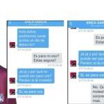 Jorge Rial publicó un supuesto chat privado con Érica García… ¡y luego lo borró!