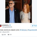 ¿Terminó el amor? Aseguran que Jorge Rial y Agustina Kampfer estarían separados