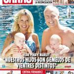 """Mirko y Felipe, los hijos de Marley y Flor Peña, son """"gemelos"""" y bebés de tapa"""