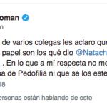 Natacha Jaitt se enojó con Doman y le respondio