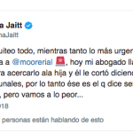 Natacha Jaitt destrozó a Jorge Rial por echarla del sanatorio donde está Morena