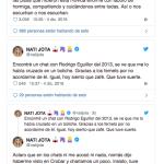 Nati Jota contó que tuvo contacto con Rodrigo Eguillor
