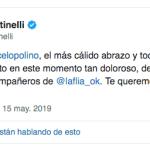 Murió la mamá de Marcelo Polino