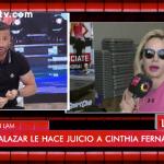 El duro cruce de Cinthia Fernández y Martín Baclini en vivo por el juicio que le va a iniciar Luli Salazar
