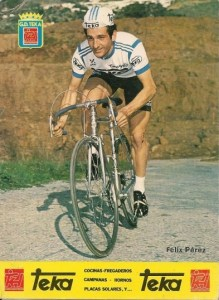 Félix Pérez, en su época de profesional con el equipo Teka