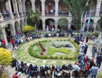 Encierro sindical en la municipalidad de Quetzaltenango