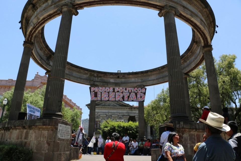 Acto por la libertad de los presos políticos en Quetzaltenango, Guatemala. Foto por: Patricia Macías