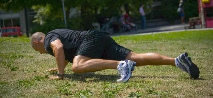 ejercicio de pasos spiderman