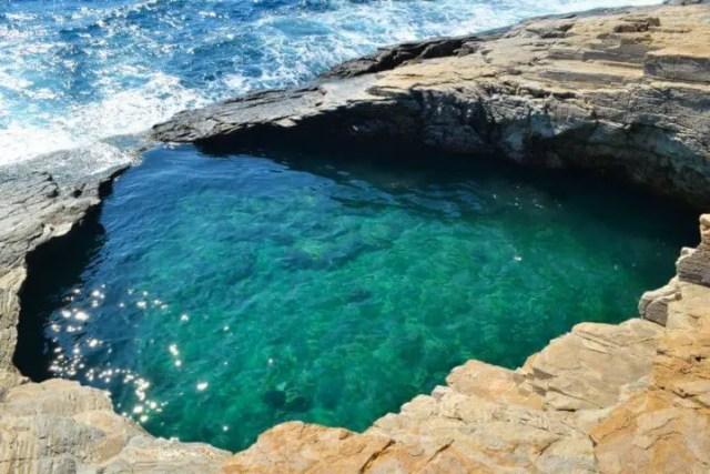 La piscina natural de Grecia menos conocida por los turistas