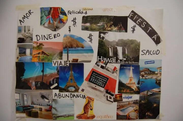 Posicionar imágenes en el tablero de sueños