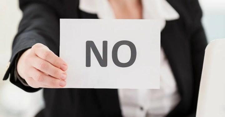 Saber decir no para ser productivo