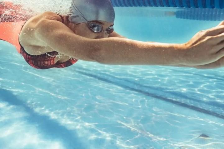 buceo durante el entrenamiento