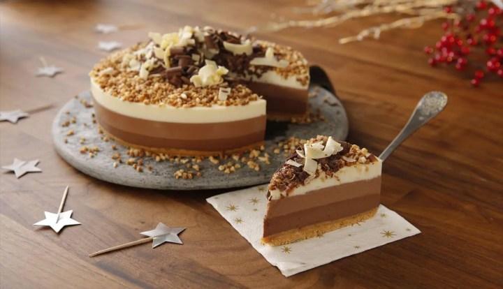 Receta de tarta de 3 chocolates sin azúcar