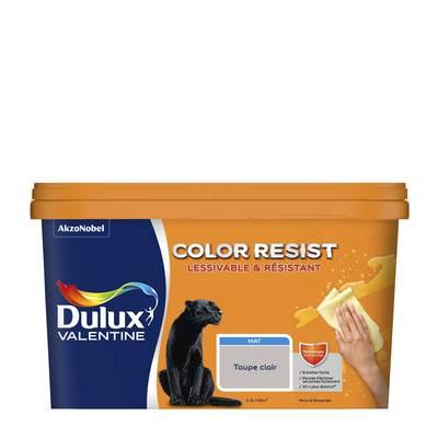 peinture color resist murs et boiseries mat taupe clair 2 5 l dulux