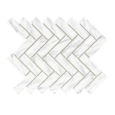 mosaique chevron marbre adele 30x31 5 cm mat inter