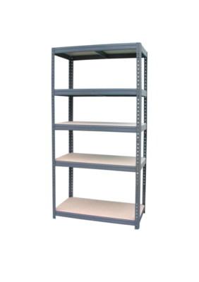 etagere charge lourde bois et metal 45 x 90 x 180 cm