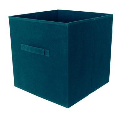 panier intisse bleu paon 31x31x31 cm