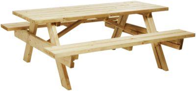 table pique nique new edge l180 x l174 x h75cm bancs fixes epicea