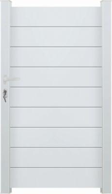 portillon style aluminium blanc 1x1m70