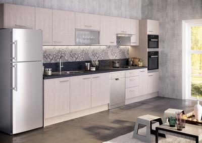 plinthe de cuisine melaminee chene blanchi 244 cm pour meuble