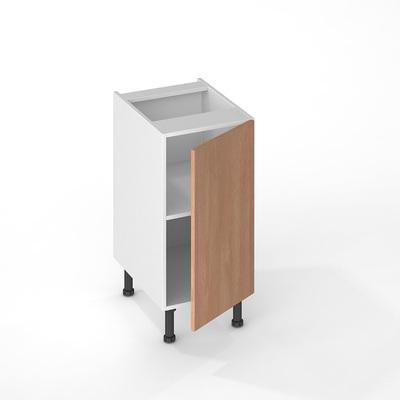 facade de cuisine 1 porte chene naturel 70 x 40 cm pour meuble haut et bas